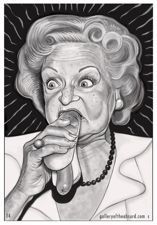 Betty White Eating a Hotdog
